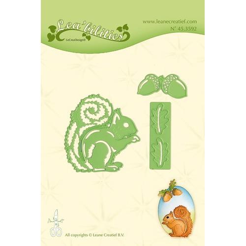 Leabilitie® Squirrel snij en embossing mal