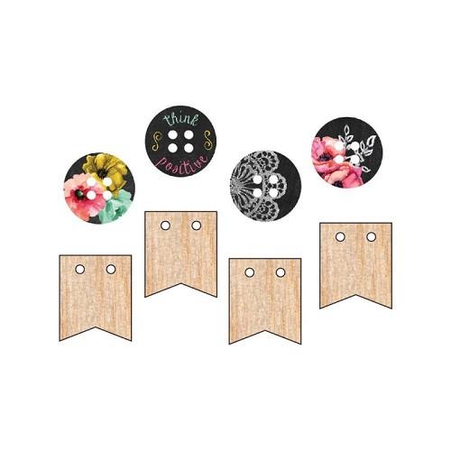 Prima Marketing The Optimist Wood Button Embellishments