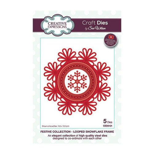 Looped Snowflake Frame