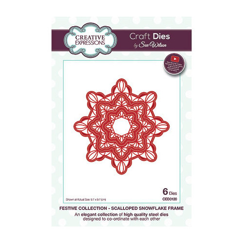 Scalloped Snowflake Frame