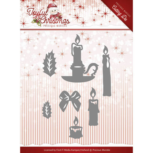 Die-Precious Marieke - Joyful Christmas - Christmas Candles