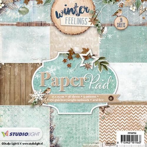 Paper pad 36 vel 12 designs Winter Feelings nr 59 PPWF59 (10-17)
