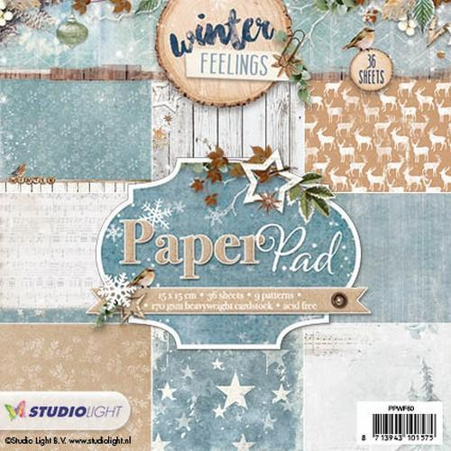 Paper pad 36 vel 12 designs Winter Feelings nr 60 PPWF60 (10-17)