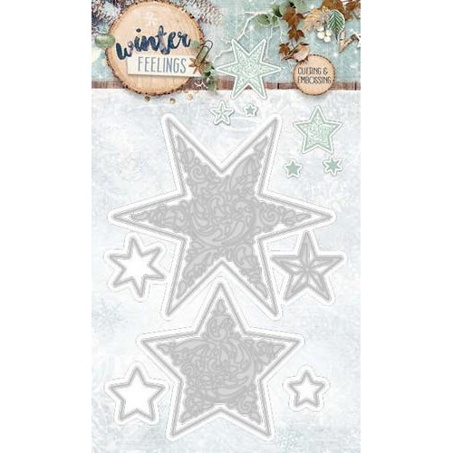 Embossing Die Cut Stencil Winter Feelings nr 60 STENCILWF60 (10-17)