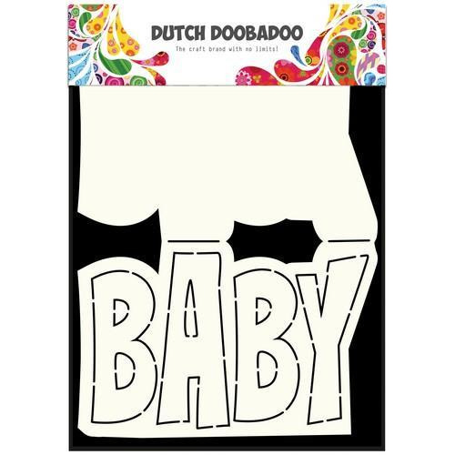 Dutch Doobadoo Dutch Card Art tekst Baby A5 470.713.647 (11-17)