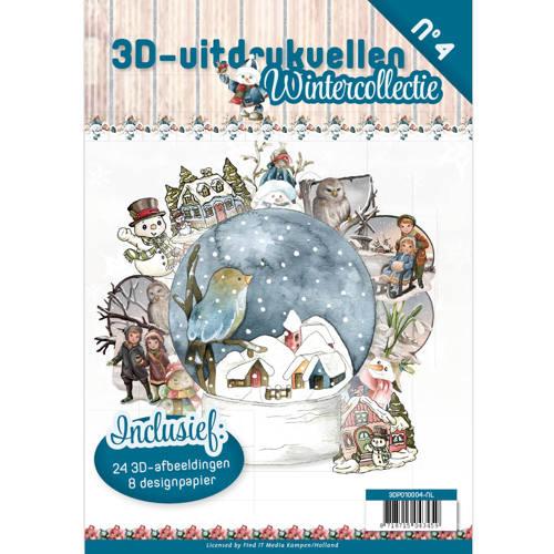 3D uitdrukvellen boek Wintercollectie