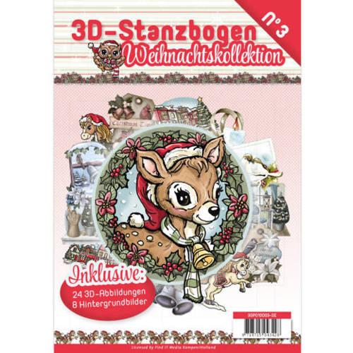 3D Stanzbogen Weihnachtskollektion