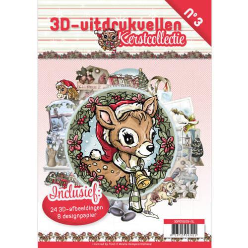 3D uitdrukvellen boek Kerstcollectie