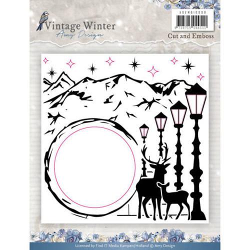Embossingfolder - Amy Design - Vintage Winter