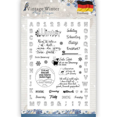 Clear Stamp - Amy Design - Vintage Winter - Deutsch