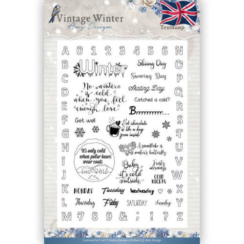 Clear Stamp - Amy Design - Vintage Winter - English