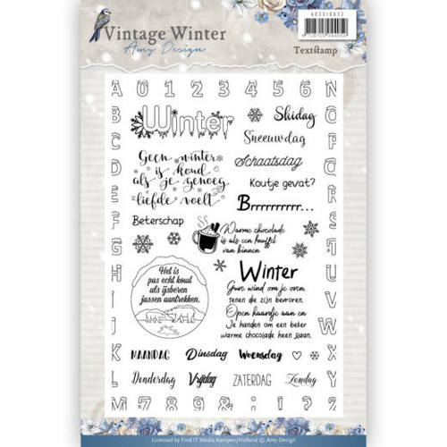 Clear Stamp - Amy Design - Vintage Winter NL