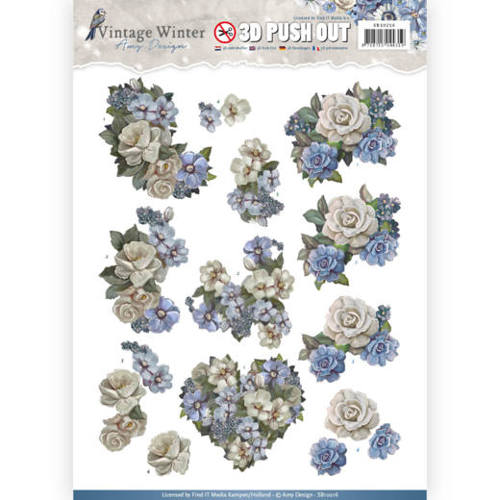 Pushout- Amy Design - Vintage Winter - Winter Flowers