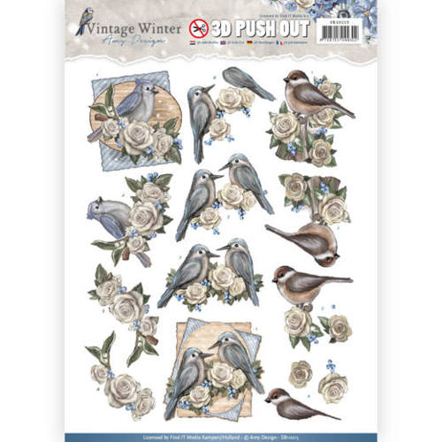 Pushout- Amy Design - Vintage Winter - Winter Birds