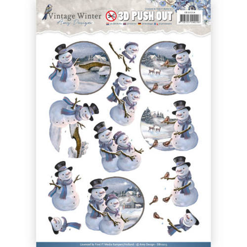 Pushout- Amy Design - Vintage Winter - Snowmen