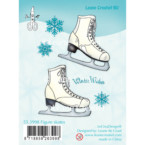Clear Stamp Figure Skates