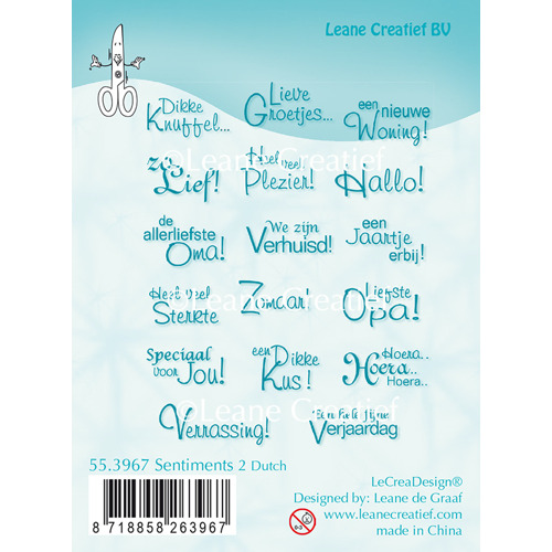 Clear Stamp Sentiments 2 Dutch