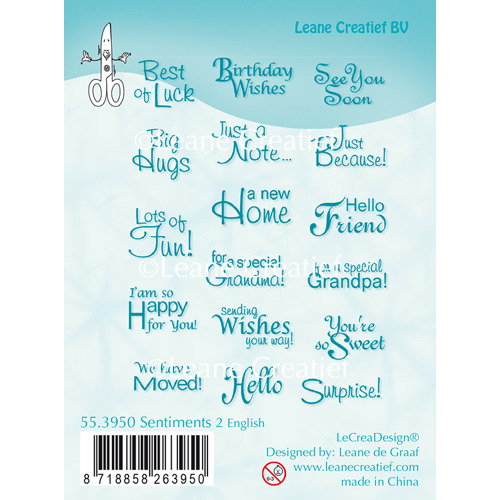 Clear Stamp Sentiments 2 English