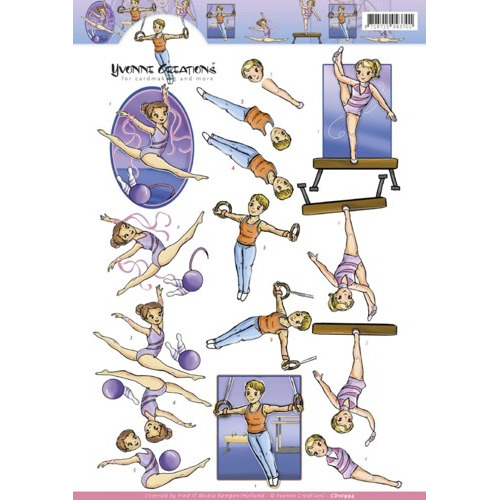 3D knipvel Yvonne Creations - gymnastics