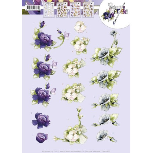 3D knipvel Precious Marieke - Spring flowers