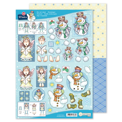 MRJ 3D Die cut sheet Winter + 1 potpourri sheet