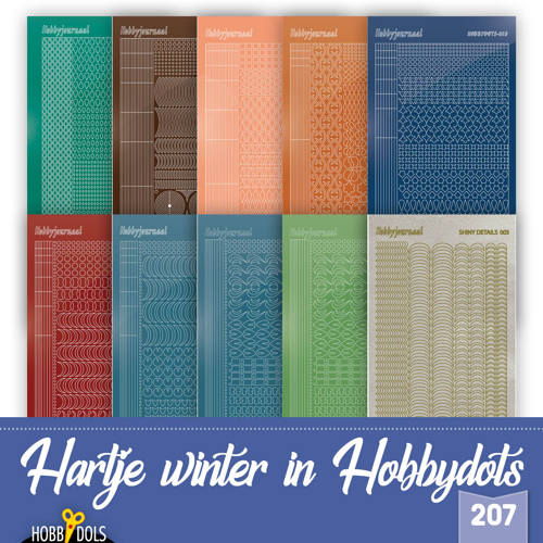 Hobbydols 207 - Stickerset