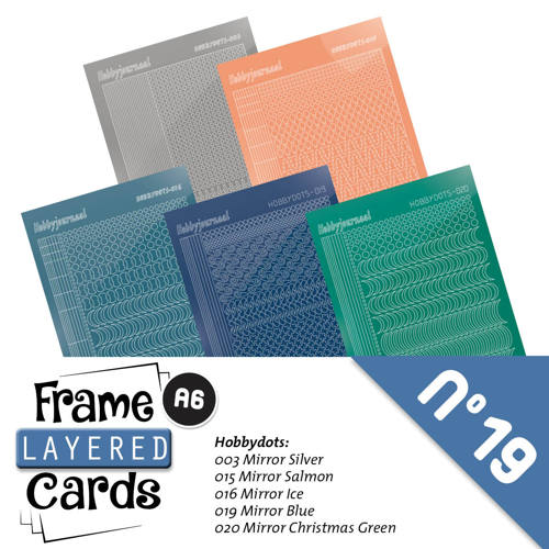 Frame Layered Cards 19 A6 Stickerset