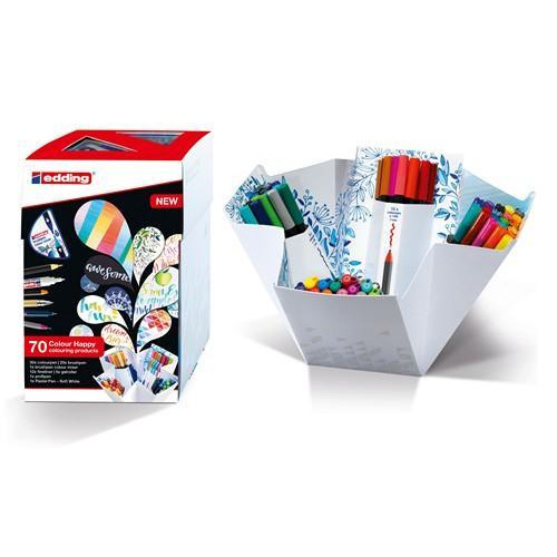 edding--Big box Colour Happy Set mix 69st + brushmixer 4-CH69+1
