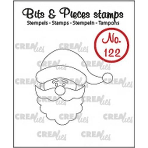 Crealies Clearstamp Bits&Pieces no. 122 kerstman CLBP122 / 35 x 35 mm (11-17)