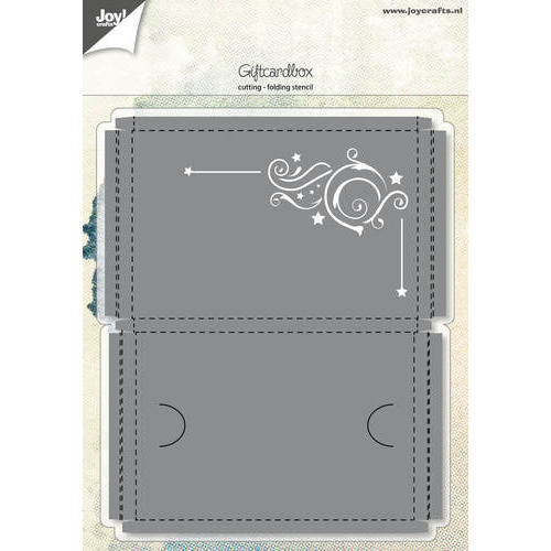 Snijstencil - Giftcardbox met Swirl