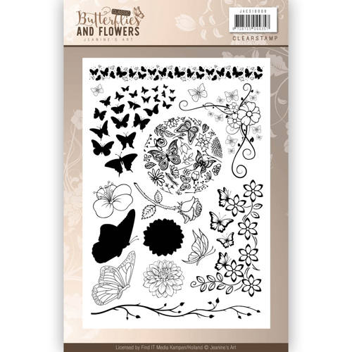 Clearstamps - Jeanines Art - Classic Butterflies and Flowers