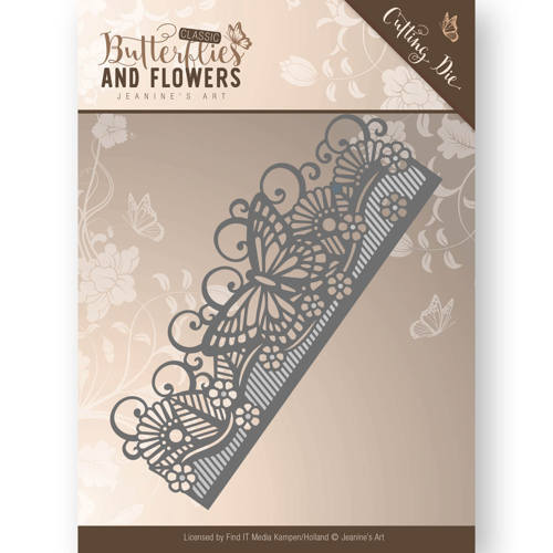 Die - Jeanine`s Art - Classic Butterflies and Flowers - Butterfly Border