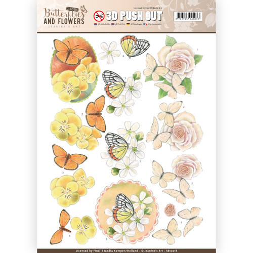 3D Push Out - Jeanine`s Art - Classic Butterflies and Flowers - Lovely Butterflies