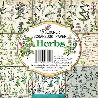 Paper pack 6x6 Herbs