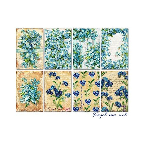 Mini Scrapbook Paper set Forget me not