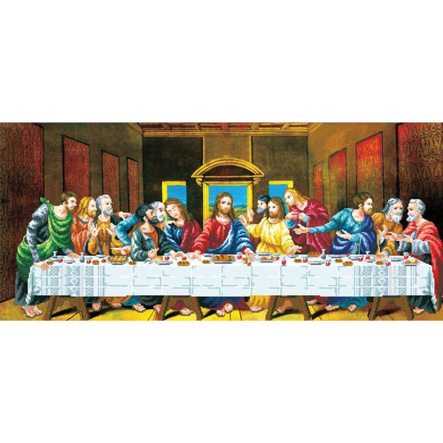 950.016 No-Count Cross Stitch Kits The Last Supper 91x41cm