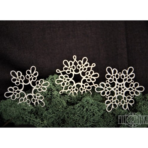 Filigranki Laser Cut Chipboards LACE DOILY 3pcs