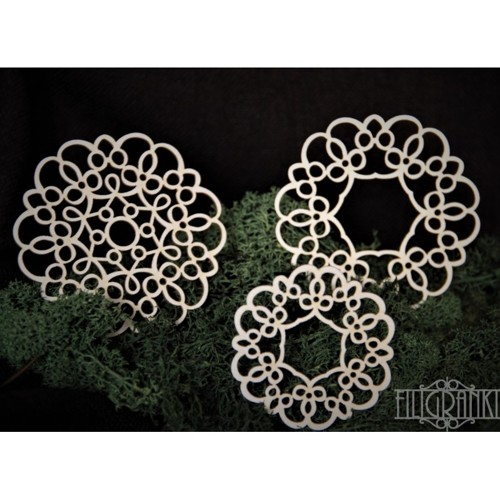 Filigranki Laser Cut Chipboards LACE PANELS 4 pcs