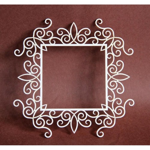 Filigranki Laser Cut Chipboard BIG SQUARE FRAME 13cm