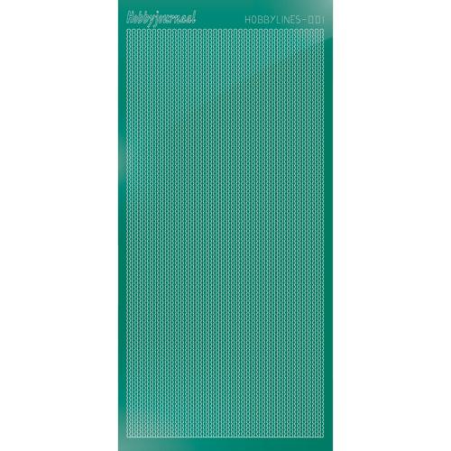 Hobbylines sticker - Mirror Christmas Green