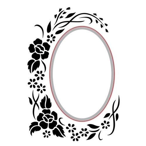 "Hobby Solution Emb.& Die Cut ""oval-floral"""