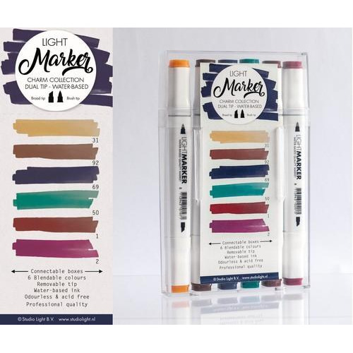Studio Light Box 6 water based dual tip markers chique MARKER05