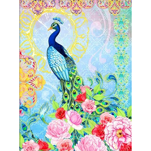 DD15.009 Diamond Dotz® - 62X84cm - Exotic Peacock