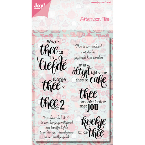 Clear stempel - Afternoon tea
