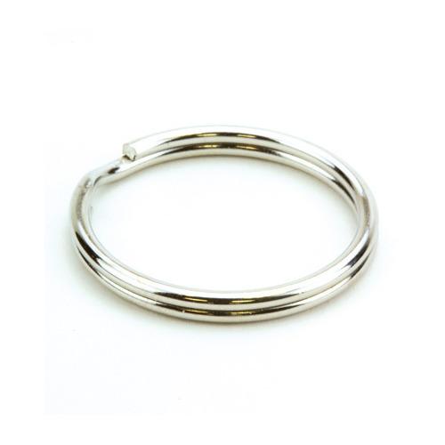 12335-3526 Key Rings, 25mm, Platinum, 6 pcs