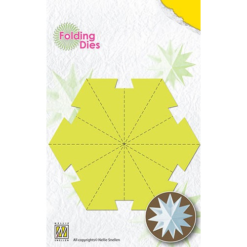 Folding Dies Christmas ball Star large