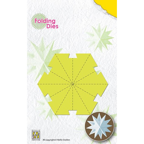 Folding Dies Christmas ball Star medium