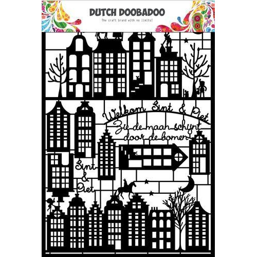 Dutch Doobadoo Dutch Paper Art  Sinterklaas 472.950.005  A5 (12-17)