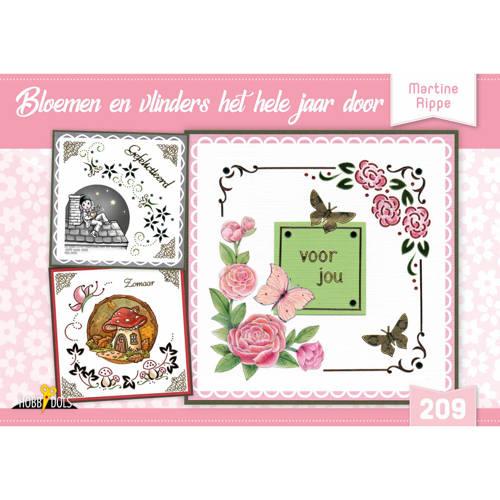 Hobbydols 209 Bloemen en vlinders het hele jaar door