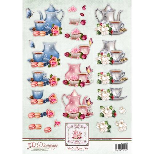 Anns Paper Art 3D Decoupage Tea Time